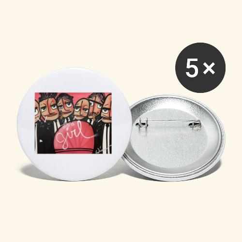 its a GIRL - Buttons klein 25 mm (5-pack)