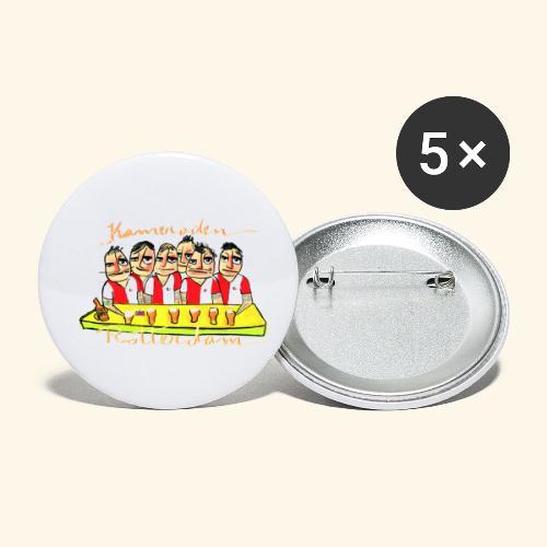 Kameraden Feyenoord - Buttons klein 25 mm (5-pack)