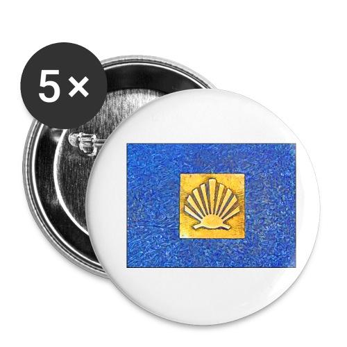 Scallop Shell Camino de Santiago - Buttons small 1''/25 mm (5-pack)