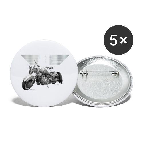 Royal Star silver Wings - Buttons klein 25 mm (5er Pack)