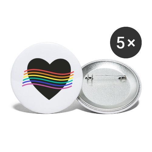 PROUD HEART - Buttons klein 25 mm (5er Pack)