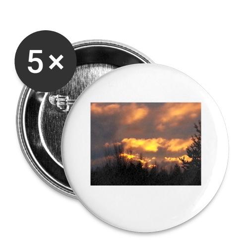 Iltarusko - Rintamerkit pienet 25 mm (5kpl pakkauksessa)