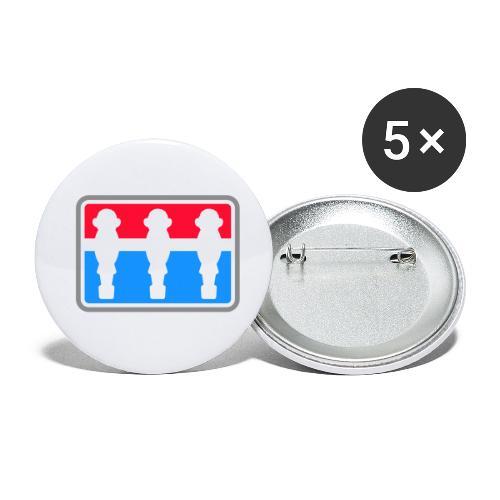 Leo Kicker - Kickershirt - Buttons klein 25 mm (5er Pack)