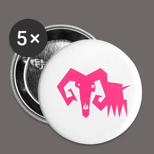 grosse ziege - Buttons klein 25 mm (5er Pack)