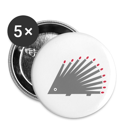 Hedgehog - Buttons small 1''/25 mm (5-pack)