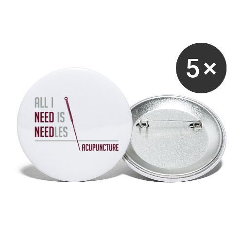 All I need is needles - Lot de 5 petits badges (25 mm)