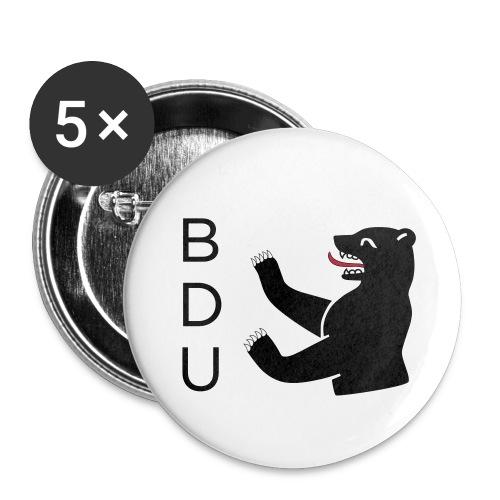 bdu_logo_2013 (quadratisc - Buttons klein 25 mm (5er Pack)