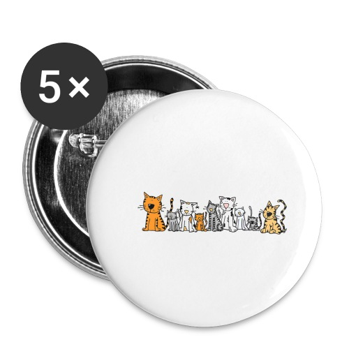 Cats & Cats - Buttons klein 25 mm (5-pack)
