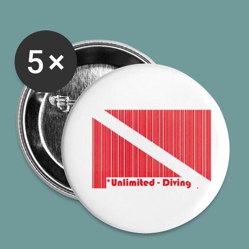 flag_barre_ud - Lot de 5 petits badges (25 mm)