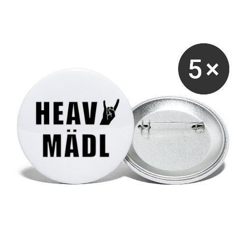 Heavy Mädl - Buttons klein 25 mm (5er Pack)