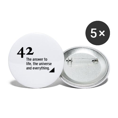 42 - the answer - Buttons klein 25 mm (5er Pack)
