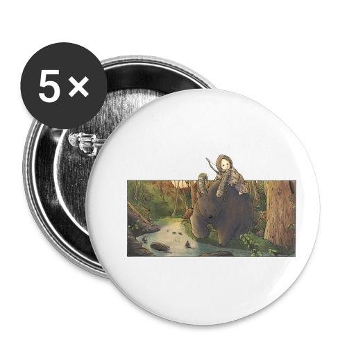 Orso e bambina - Wandering Claw - Confezione da 5 spille piccole (25 mm)