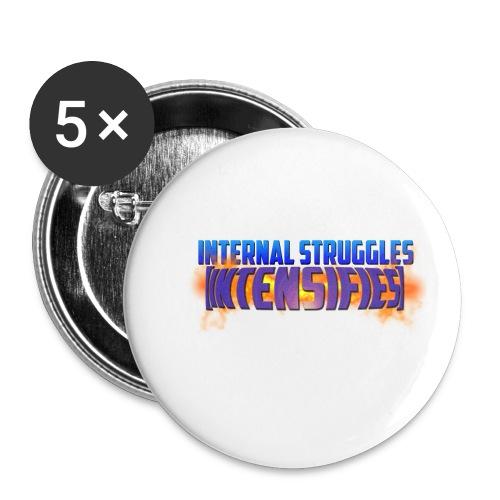INTERNAL STRUGGLES INTENSIFIES - Buttons small 1''/25 mm (5-pack)