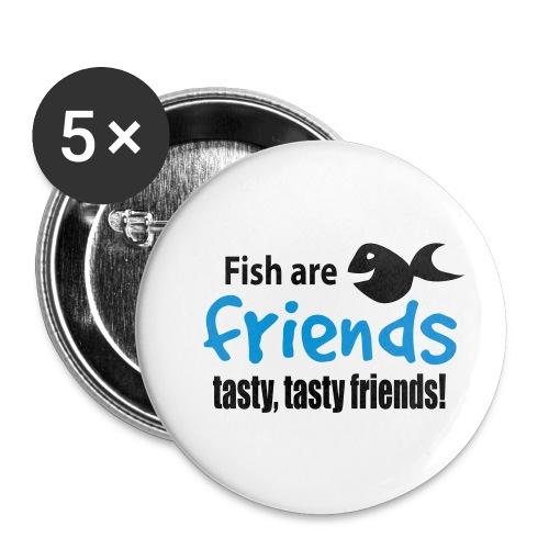 Fisk er venner - Liten pin 25 mm (5-er pakke)