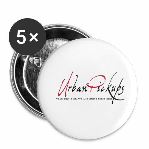 Logga röd och svart - Små knappar 25 mm (5-pack)