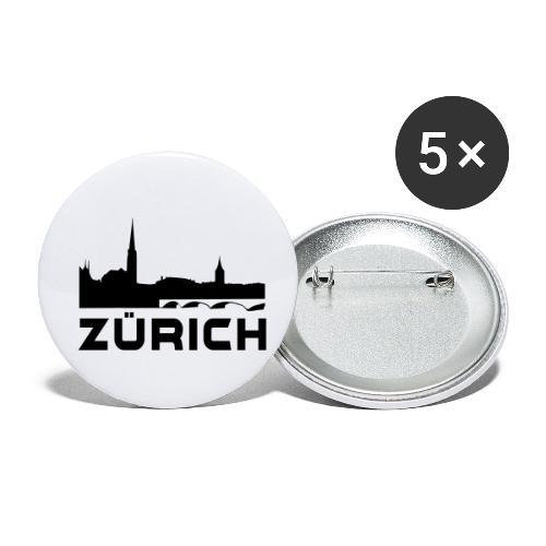 Zürich - Buttons klein 25 mm (5er Pack)