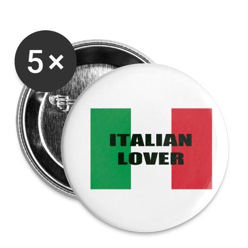 ITALIAN LOVER - Confezione da 5 spille piccole (25 mm)