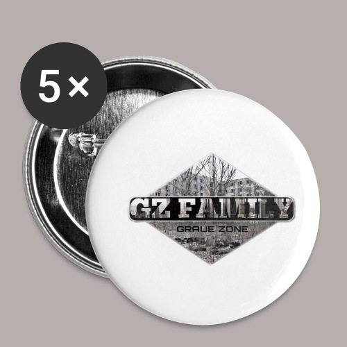 GZ FAMILY - Buttons klein 25 mm (5er Pack)