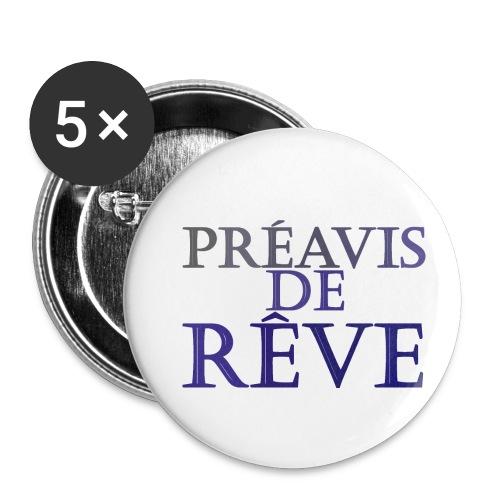 préavis de rêve (bleu) - Lot de 5 petits badges (25 mm)