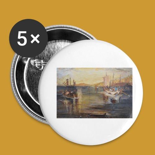 White Fishing - Mark Noble Art - Buttons small 1''/25 mm (5-pack)