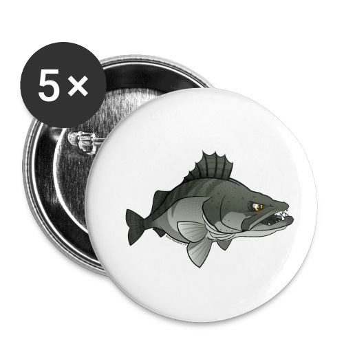 Red River: Zander - Buttons small 1''/25 mm (5-pack)