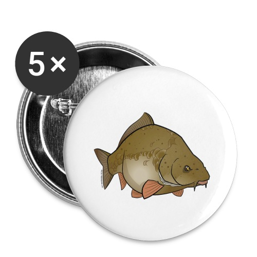 Red River: Carp - Buttons small 1''/25 mm (5-pack)