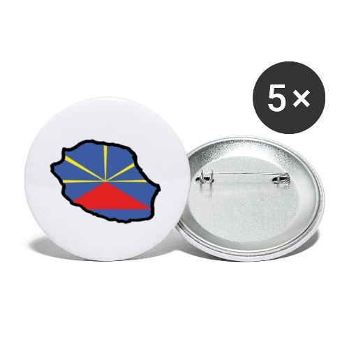 Drapeau Lo Mahaveli - Lot de 5 petits badges (25 mm)