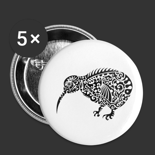 Kiwi Maori - Buttons klein 25 mm (5er Pack)