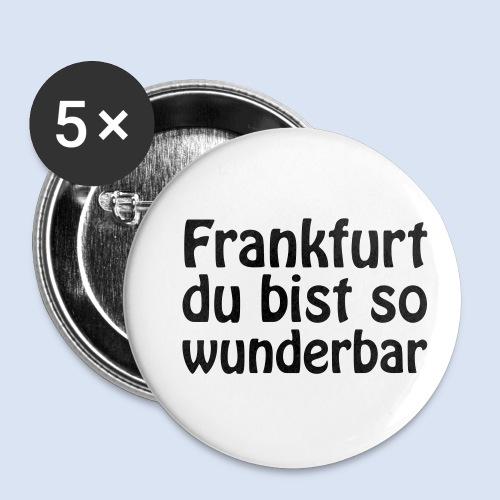 FRANKFURT Du bist so - Buttons klein 25 mm (5er Pack)