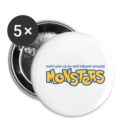 Monsters - Buttons small 1''/25 mm (5-pack)