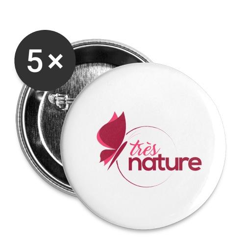 rond_rose_pap_sweet - Lot de 5 petits badges (25 mm)