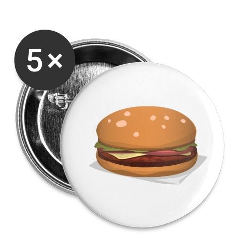 hamburger-576419 - Confezione da 5 spille piccole (25 mm)