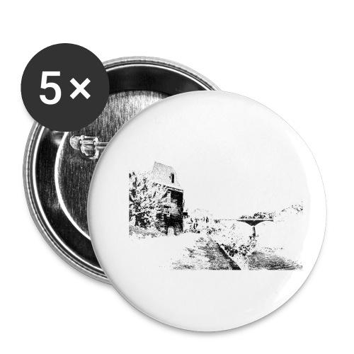 J'aime Mouleydier - Pont F - Lot de 5 petits badges (25 mm)