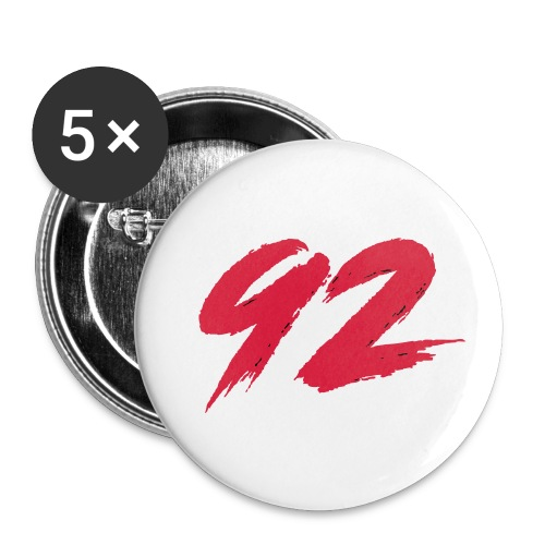 92 Logo 1 - Buttons klein 25 mm (5er Pack)