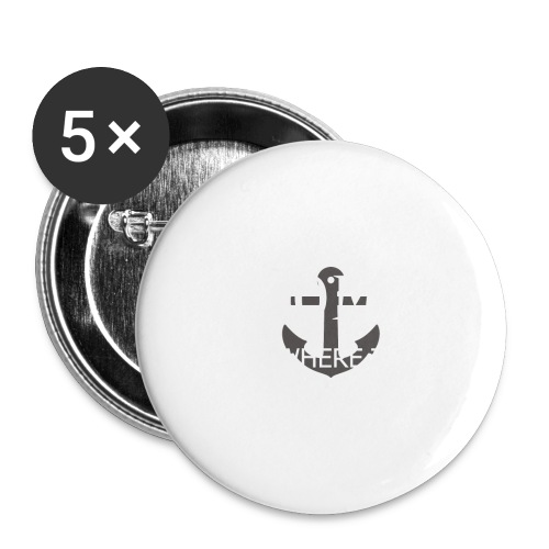 Home is where the anchor drops - Buttons small 1''/25 mm (5-pack)