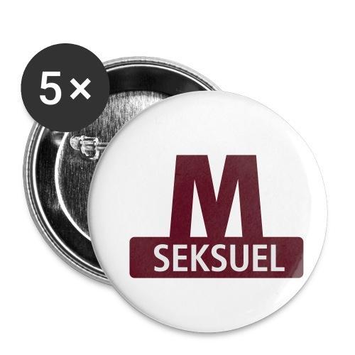 Metroseksuel - Buttons/Badges lille, 25 mm (5-pack)