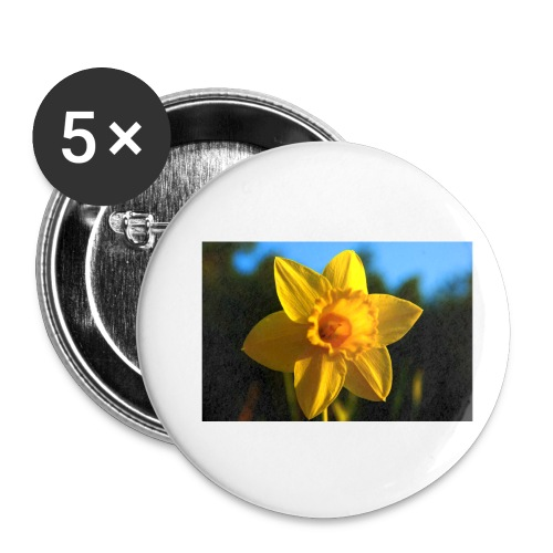 daffodil - Buttons small 1''/25 mm (5-pack)