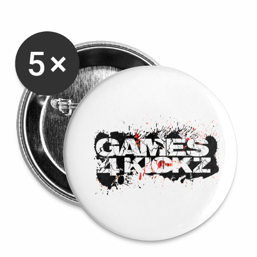 Games4Kickz Logo Splattered Background - Buttons small 1''/25 mm (5-pack)