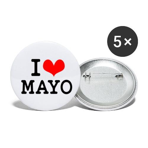 I Love Mayo - Buttons small 1''/25 mm (5-pack)