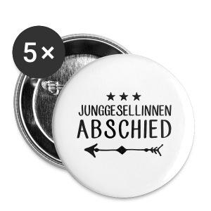 Junggesellinnen Abschied - JGA T-Shirt Team Braut - Buttons klein 25 mm