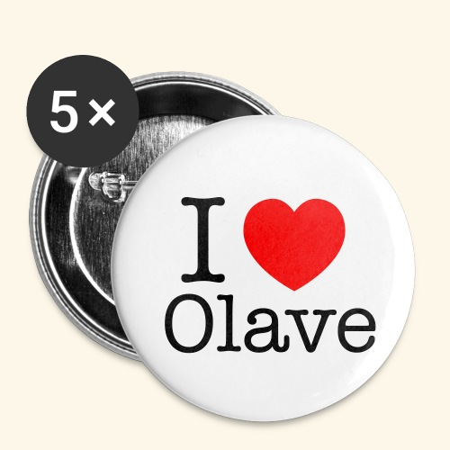 I Olave - Buttons klein 25 mm (5er Pack)