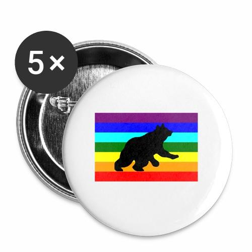 Orso libero in piedi - Confezione da 5 spille piccole (25 mm)