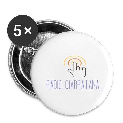 GADGET RADIO GIARRATAnNA - Confezione da 5 spille piccole (25 mm)
