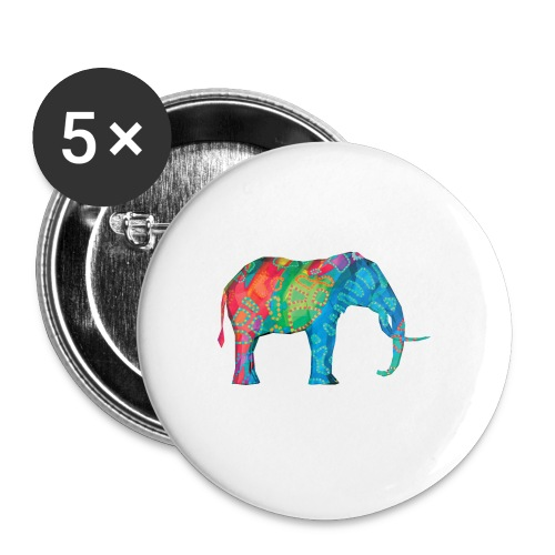 Elefant - Buttons small 1''/25 mm (5-pack)