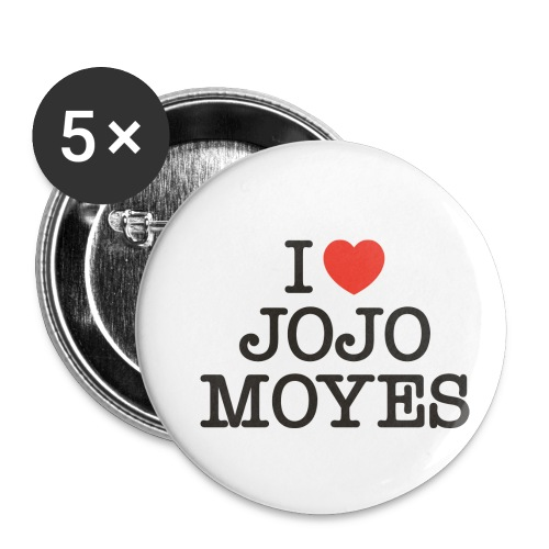 I LOVE JOJO MOYES - Buttons/Badges lille, 25 mm (5-pack)
