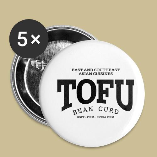 Tofu (black) - Buttons klein 25 mm (5er Pack)