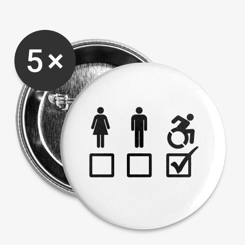 Rolstoel gebruiker is geschikt 001 - Buttons klein 25 mm (5-pack)