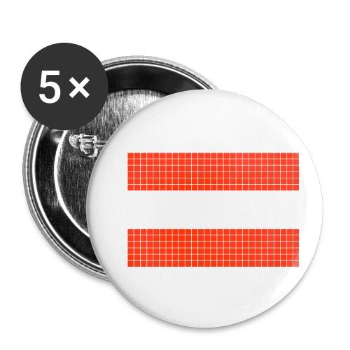austrian flag - Confezione da 5 spille piccole (25 mm)