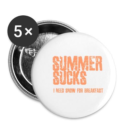 SUMMER SUCKS - Buttons small 1''/25 mm (5-pack)