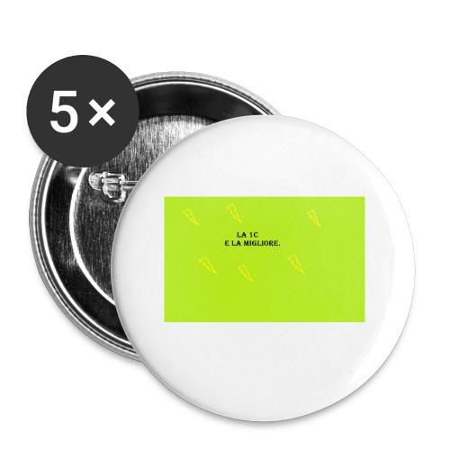 la migliore e la 1c - Confezione da 5 spille piccole (25 mm)